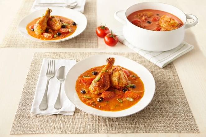 SUNSET Campari Stewed Tomato Chicken